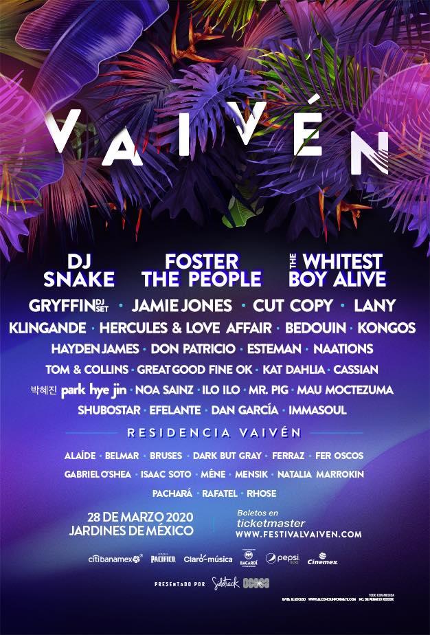 Cartel del Festival Vaiven 2020